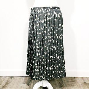 Vintage Breckinridge Gray Pleated Floral Skirt